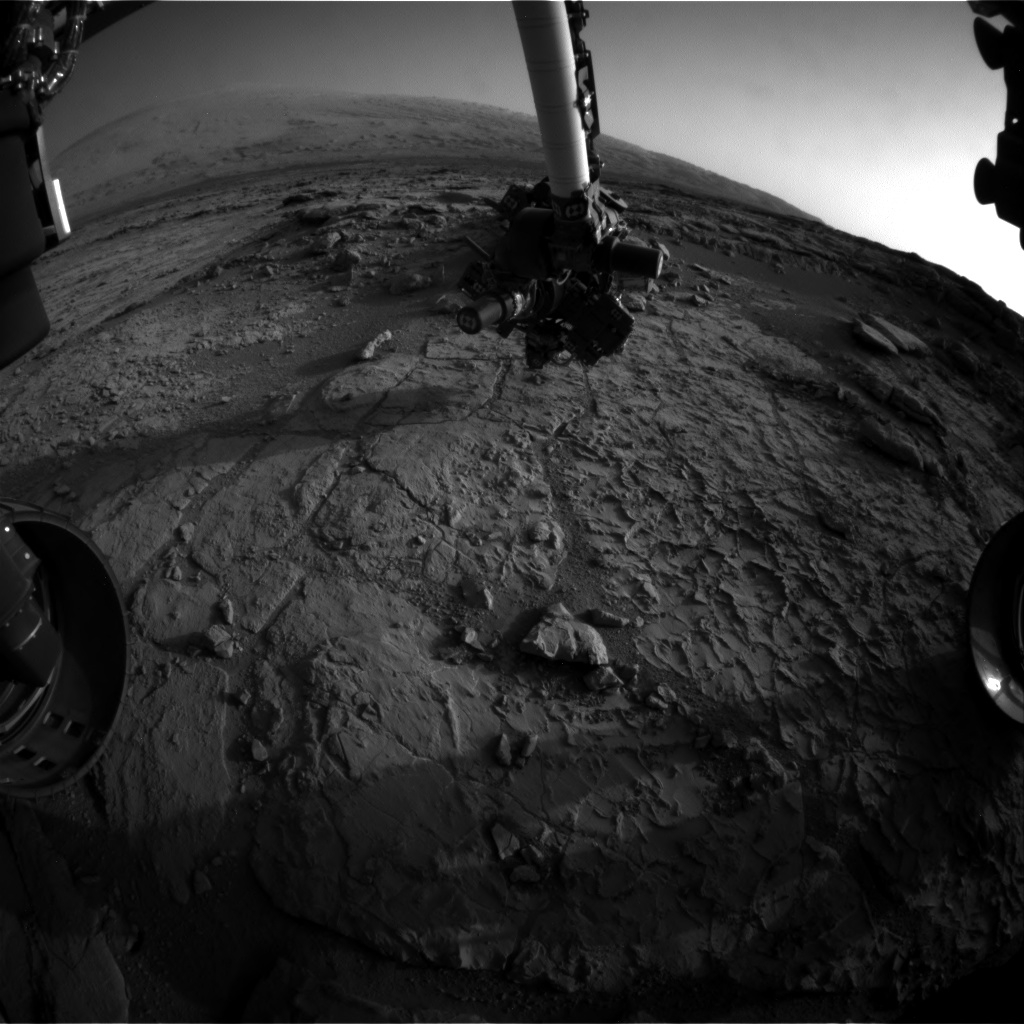 Nasa's Mars rover Curiosity acquired this image using its Front Hazard Avoidance Camera (Front Hazcam) on Sol 230, at drive 0, site number 6