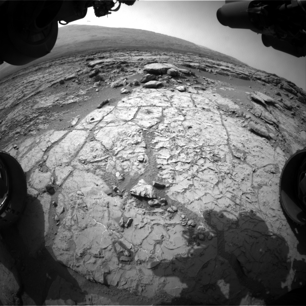 NASA's Mars rover Curiosity acquired this image using its Front Hazard Avoidance Cameras (Front Hazcams) on Sol 230