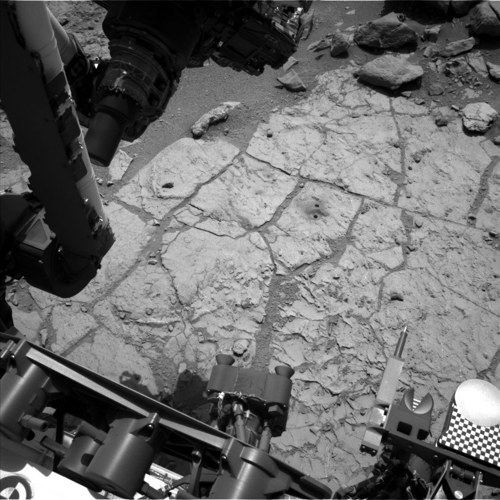 Nasa's Mars rover Curiosity acquired this image using its Left Navigation Camera on Sol 230, at drive 0, site number 6