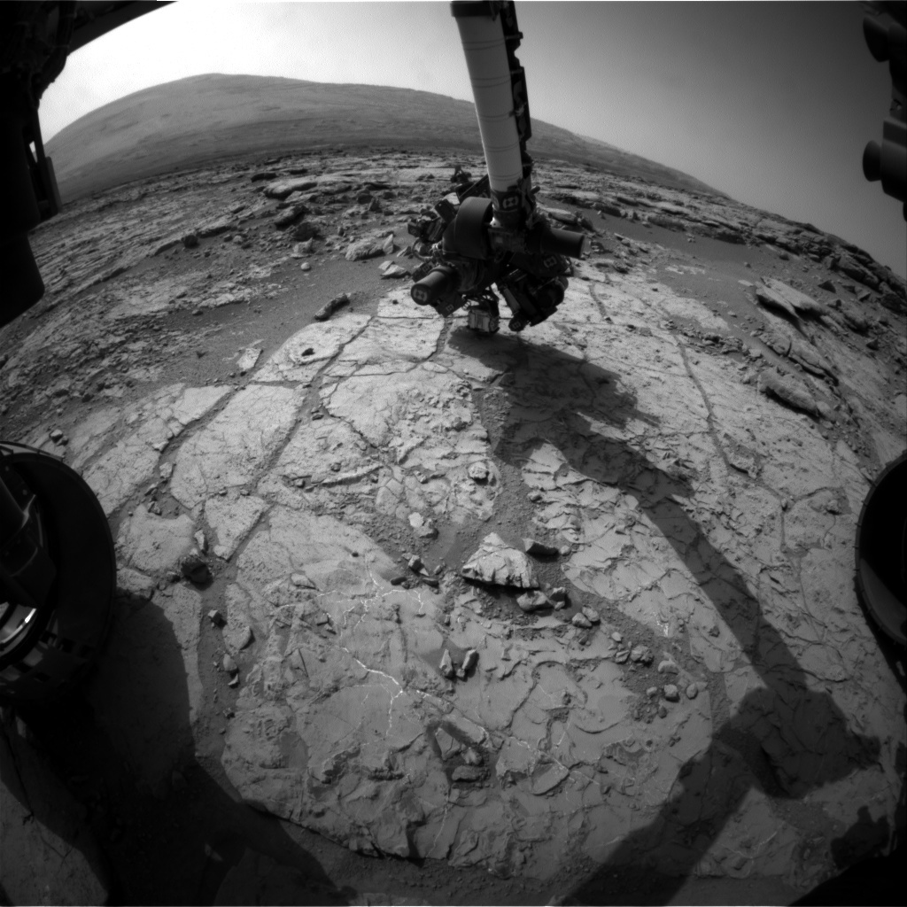 NASA's Mars rover Curiosity acquired this image using its Front Hazard Avoidance Cameras (Front Hazcams) on Sol 231