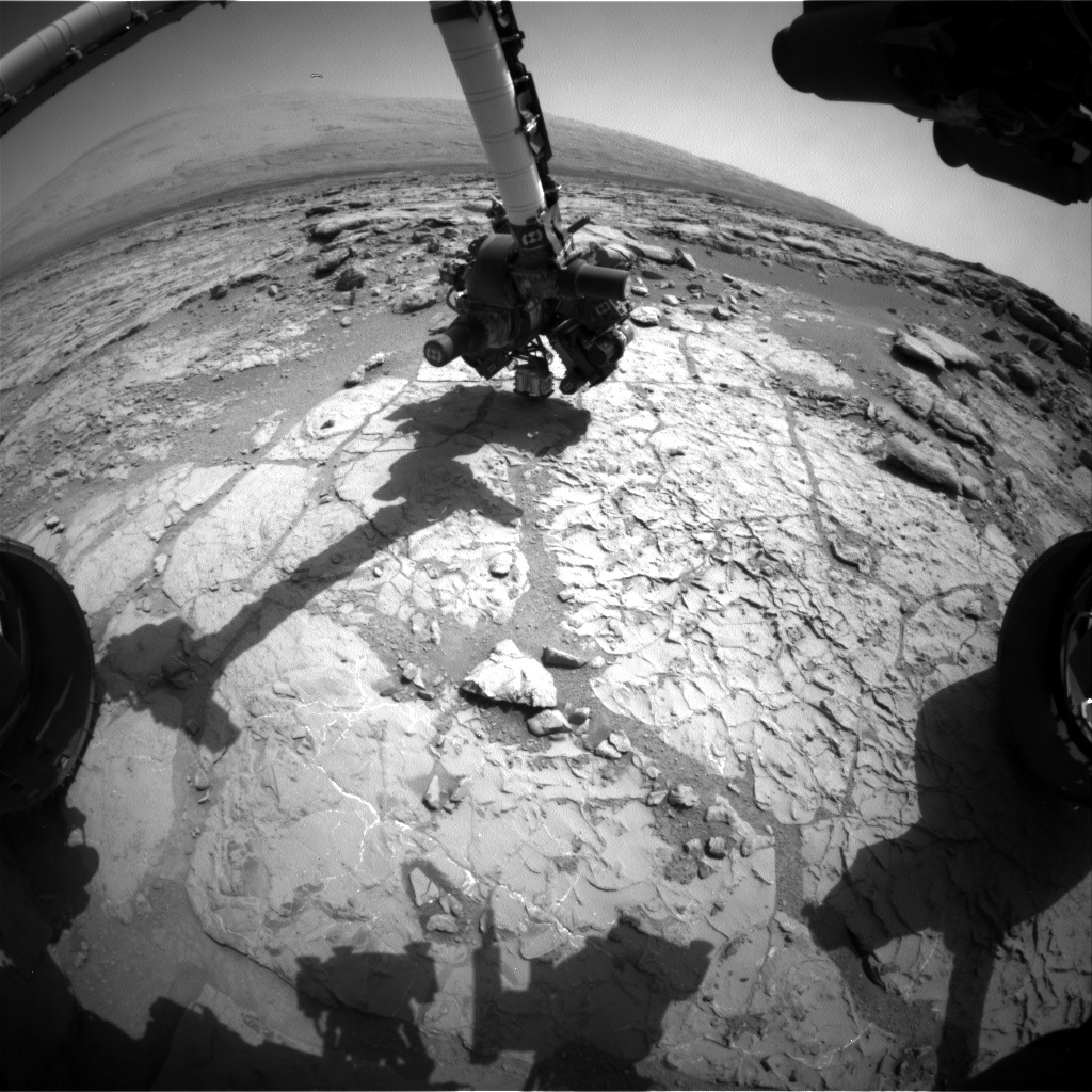 Nasa's Mars rover Curiosity acquired this image using its Front Hazard Avoidance Camera (Front Hazcam) on Sol 231, at drive 0, site number 6