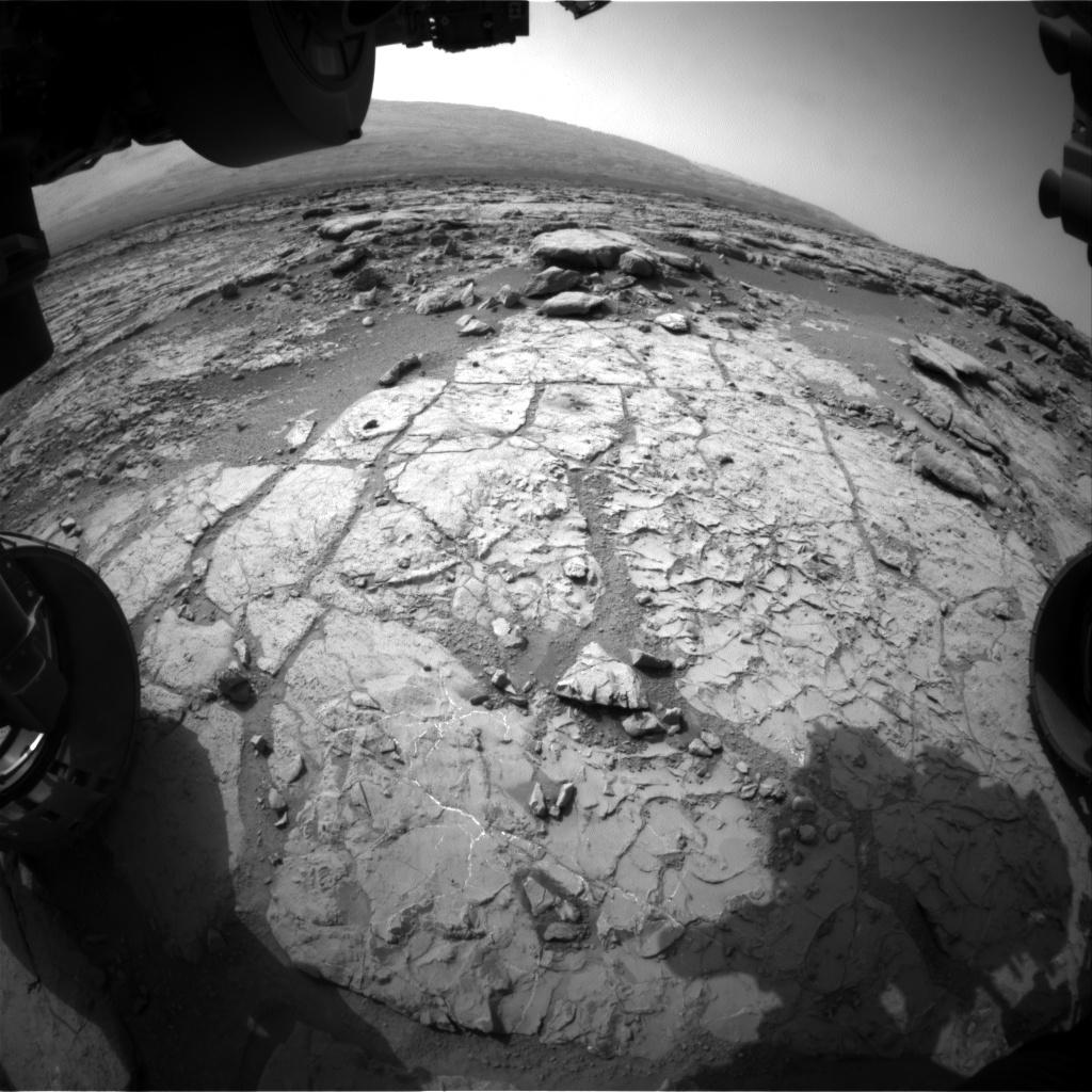 NASA's Mars rover Curiosity acquired this image using its Front Hazard Avoidance Cameras (Front Hazcams) on Sol 232