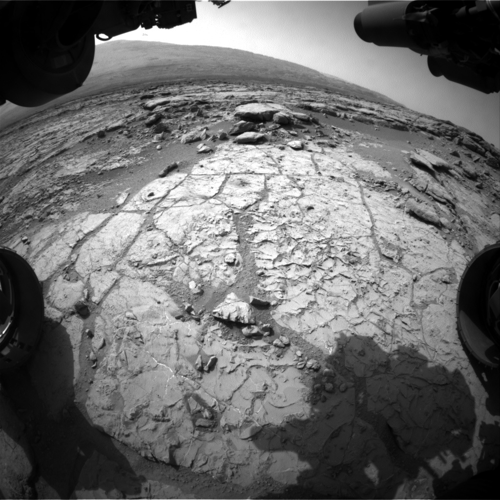 Nasa's Mars rover Curiosity acquired this image using its Front Hazard Avoidance Camera (Front Hazcam) on Sol 233, at drive 0, site number 6