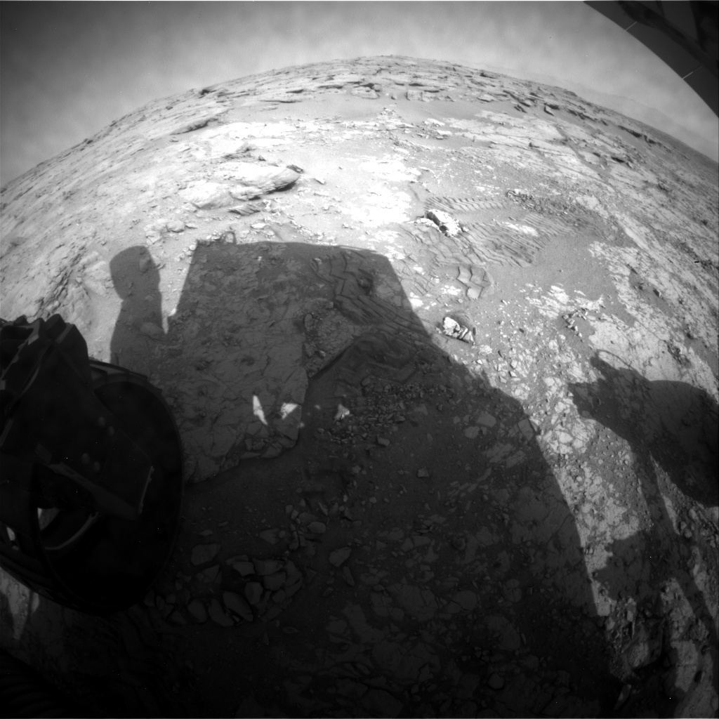 NASA's Mars rover Curiosity acquired this image using its Rear Hazard Avoidance Cameras (Rear Hazcams) on Sol 233