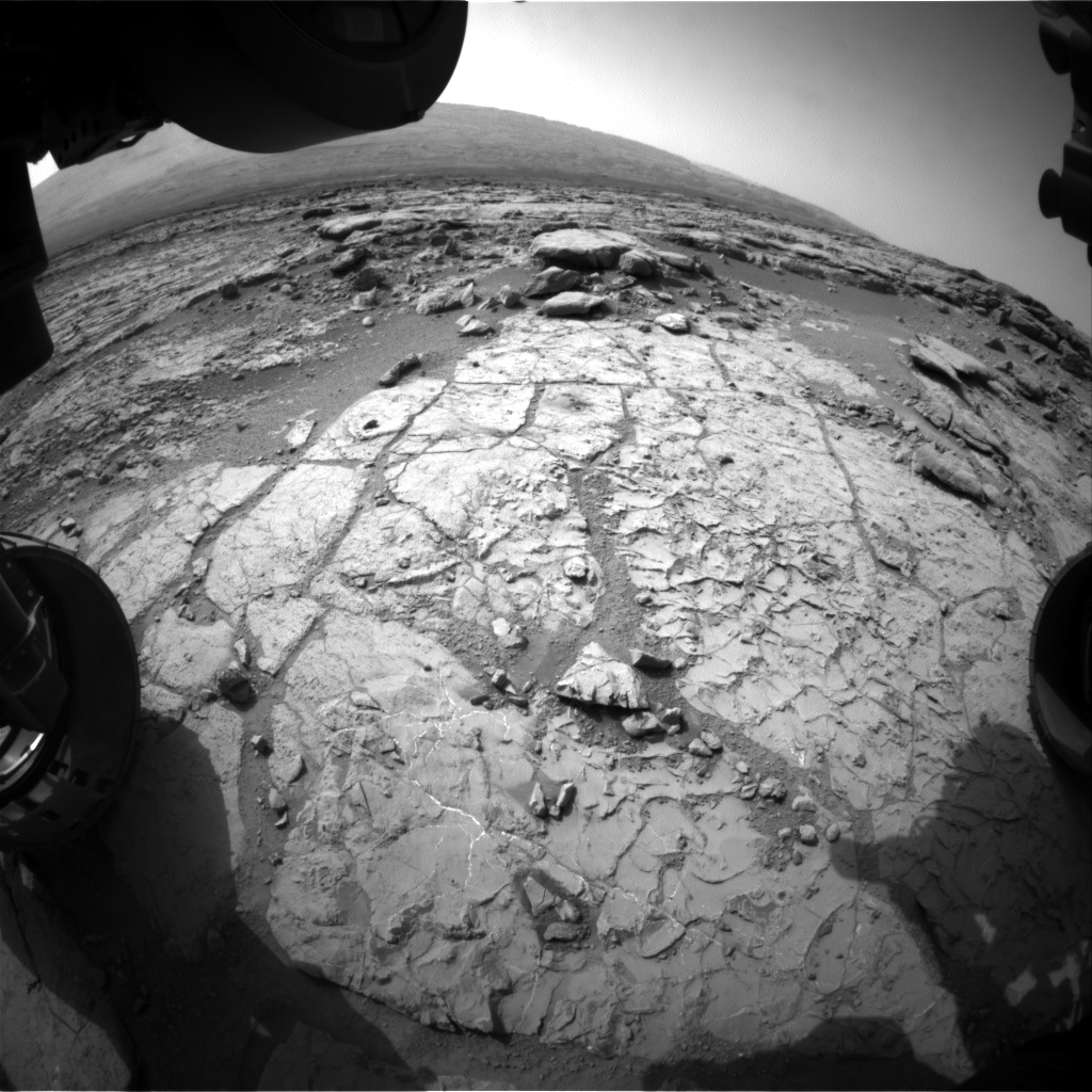 Nasa's Mars rover Curiosity acquired this image using its Front Hazard Avoidance Camera (Front Hazcam) on Sol 234, at drive 0, site number 6