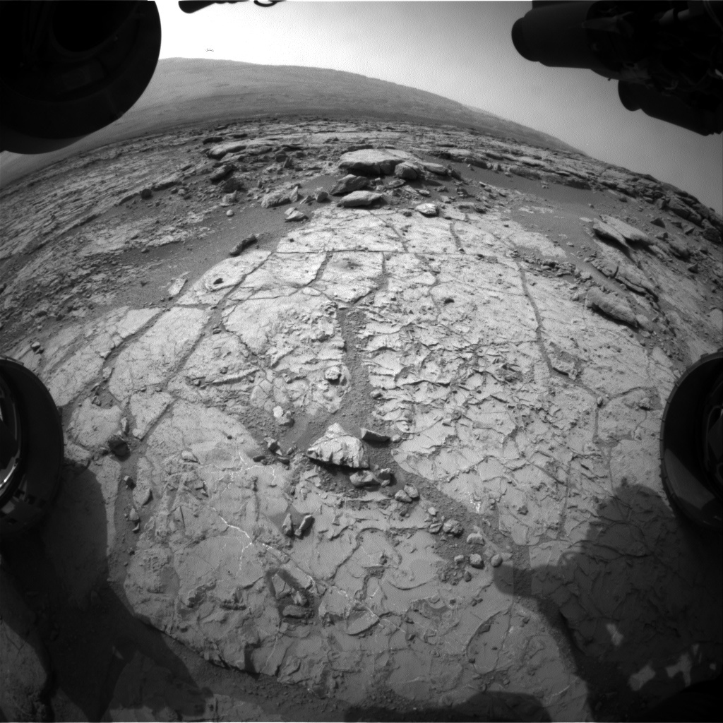NASA's Mars rover Curiosity acquired this image using its Front Hazard Avoidance Cameras (Front Hazcams) on Sol 234