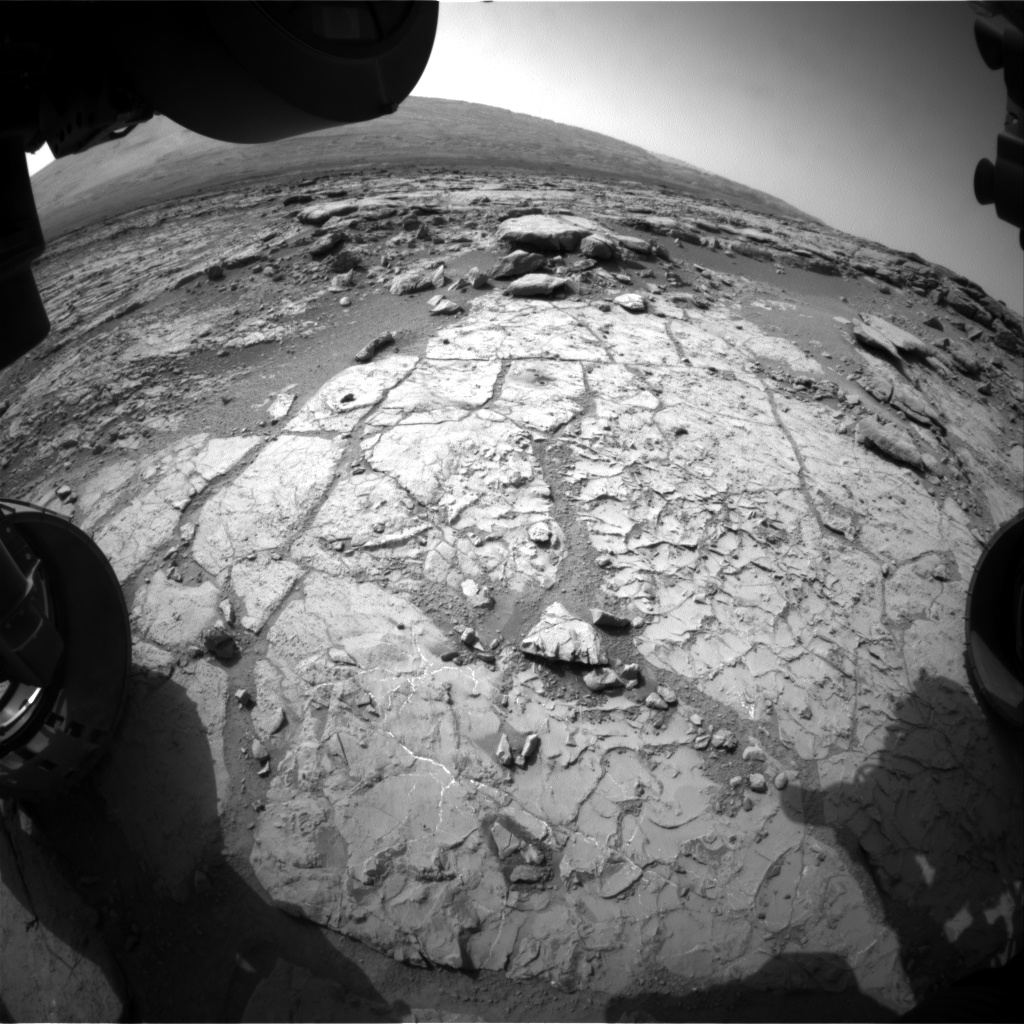 Nasa's Mars rover Curiosity acquired this image using its Front Hazard Avoidance Camera (Front Hazcam) on Sol 235, at drive 0, site number 6