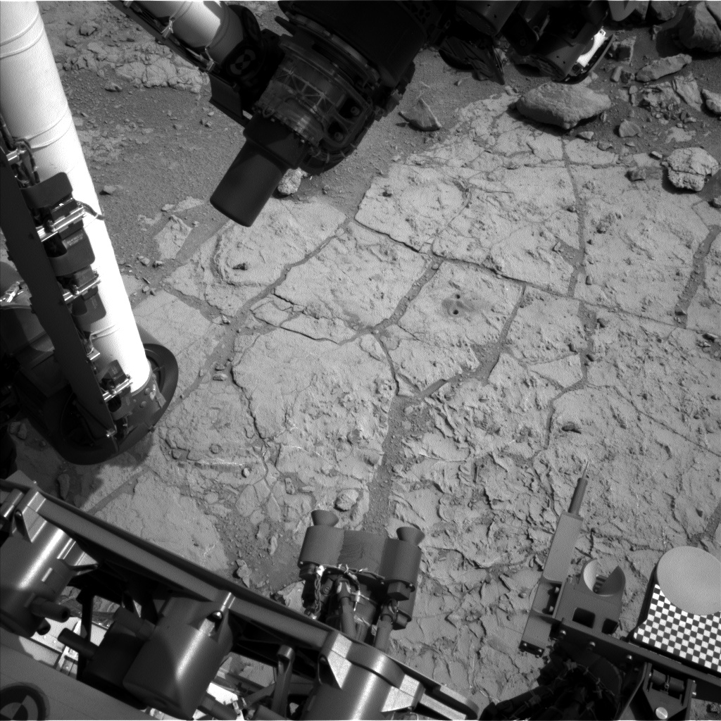 Nasa's Mars rover Curiosity acquired this image using its Left Navigation Camera on Sol 262, at drive 0, site number 6
