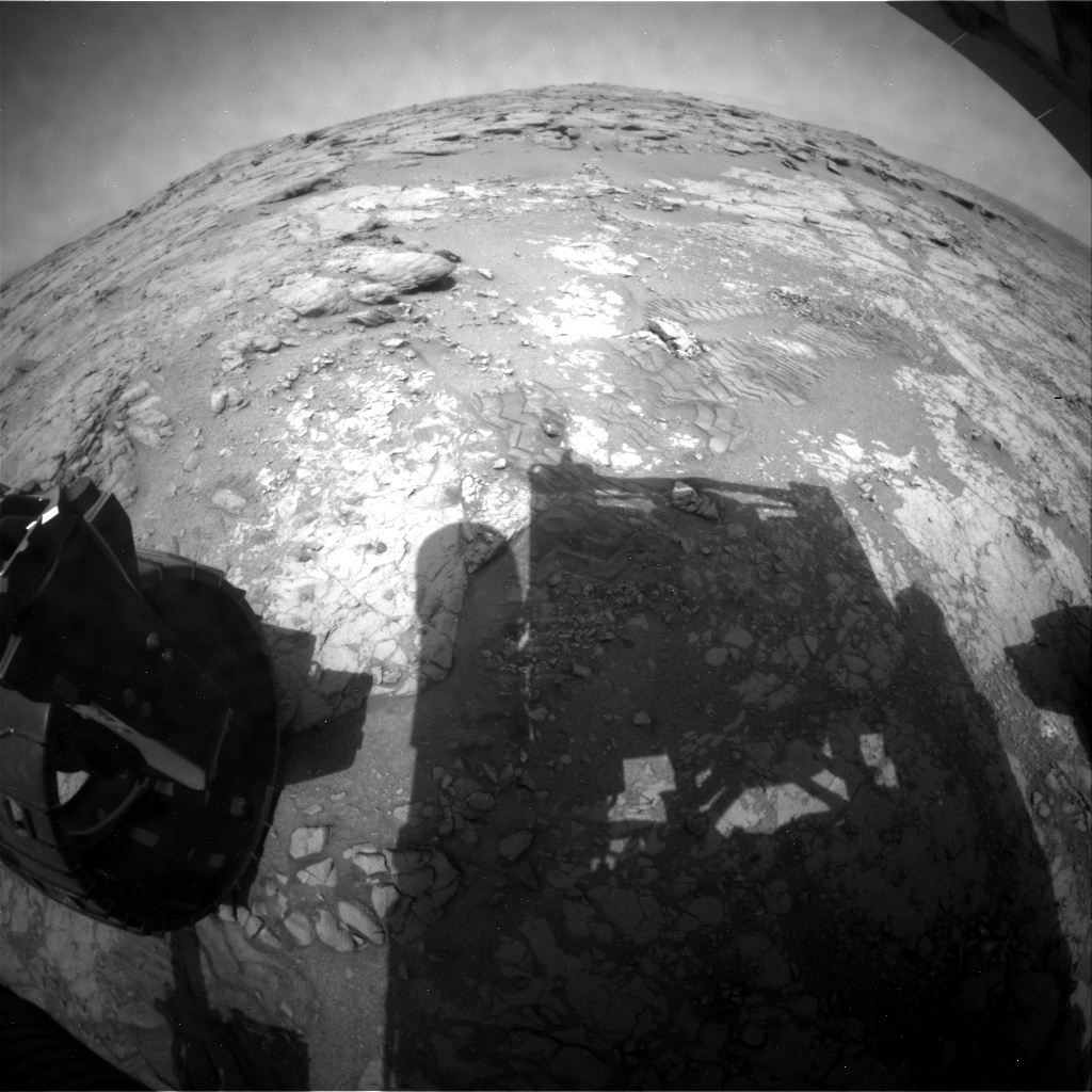 NASA's Mars rover Curiosity acquired this image using its Rear Hazard Avoidance Cameras (Rear Hazcams) on Sol 262