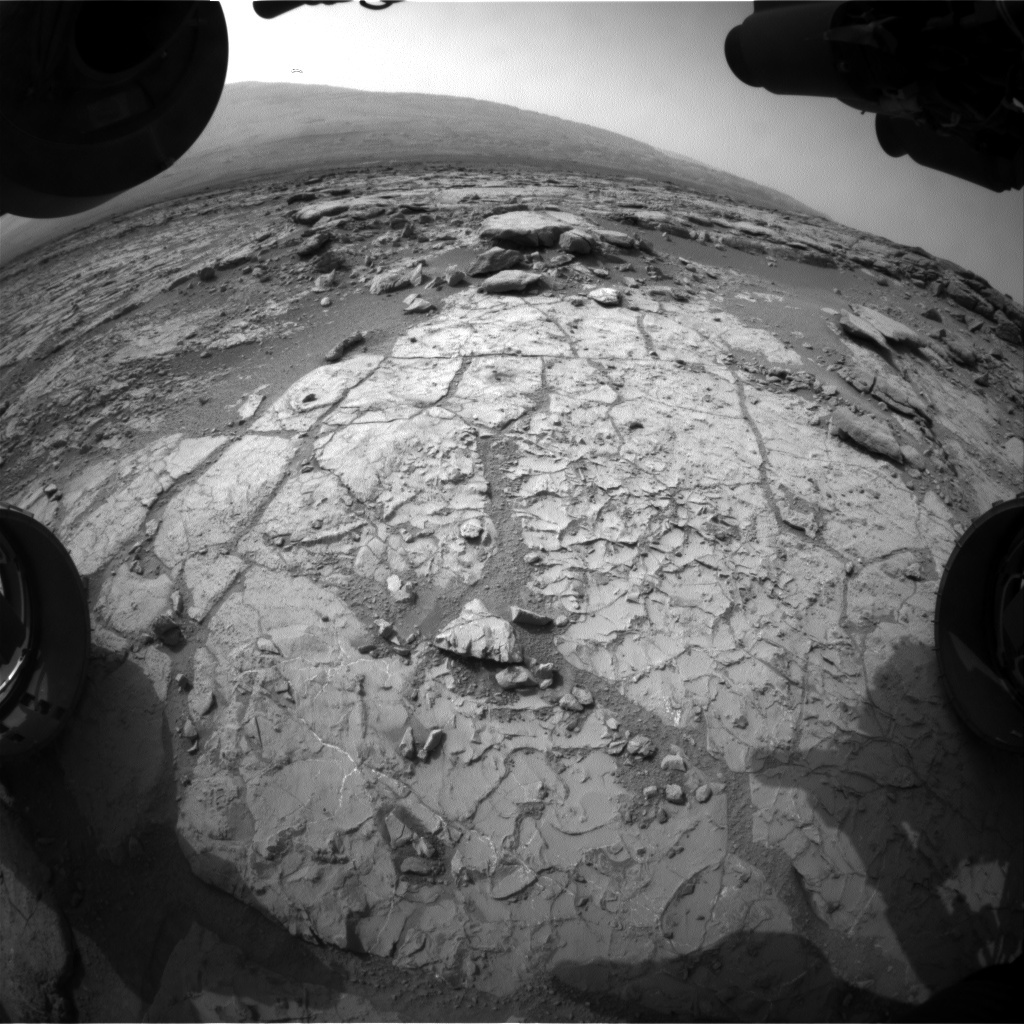 NASA's Mars rover Curiosity acquired this image using its Front Hazard Avoidance Cameras (Front Hazcams) on Sol 263