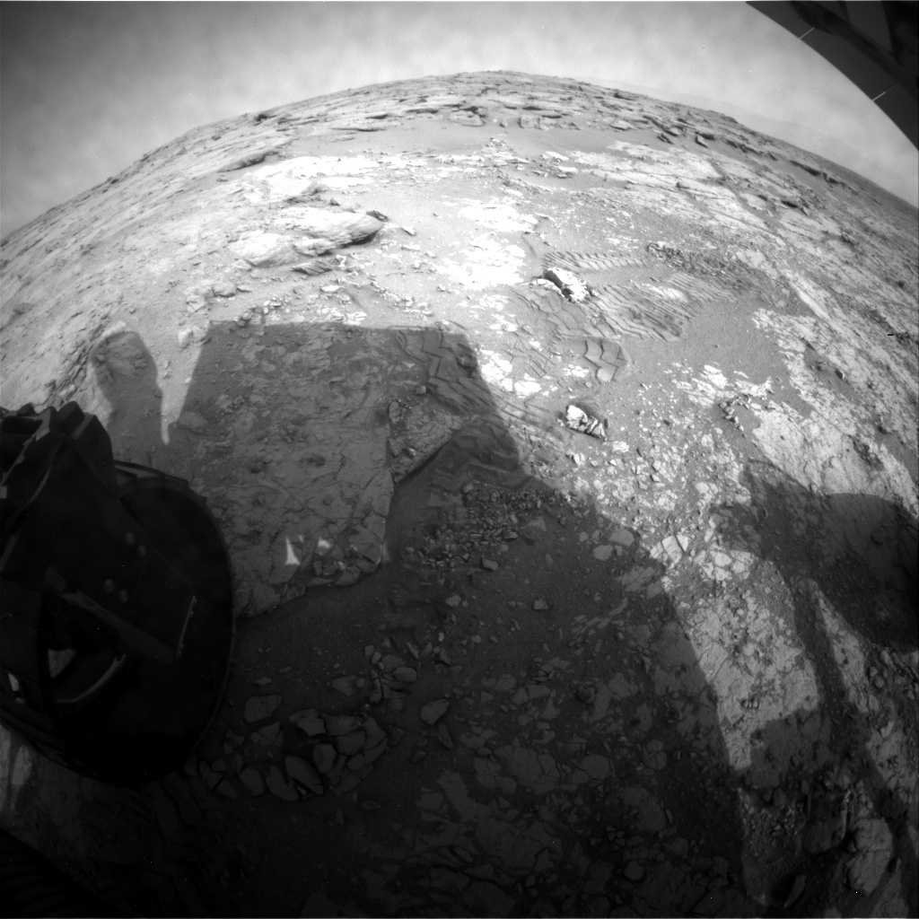 NASA's Mars rover Curiosity acquired this image using its Rear Hazard Avoidance Cameras (Rear Hazcams) on Sol 263
