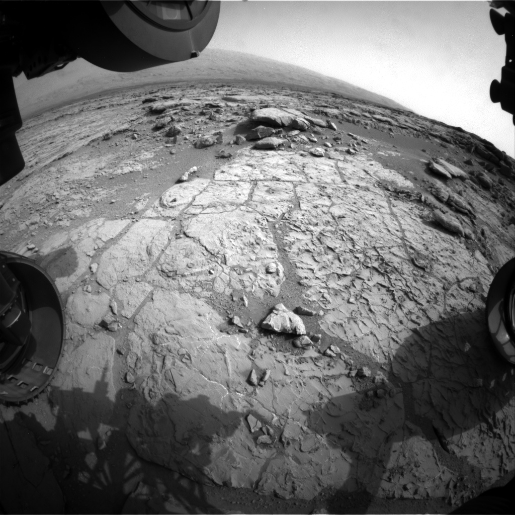 Nasa's Mars rover Curiosity acquired this image using its Front Hazard Avoidance Camera (Front Hazcam) on Sol 268, at drive 0, site number 6