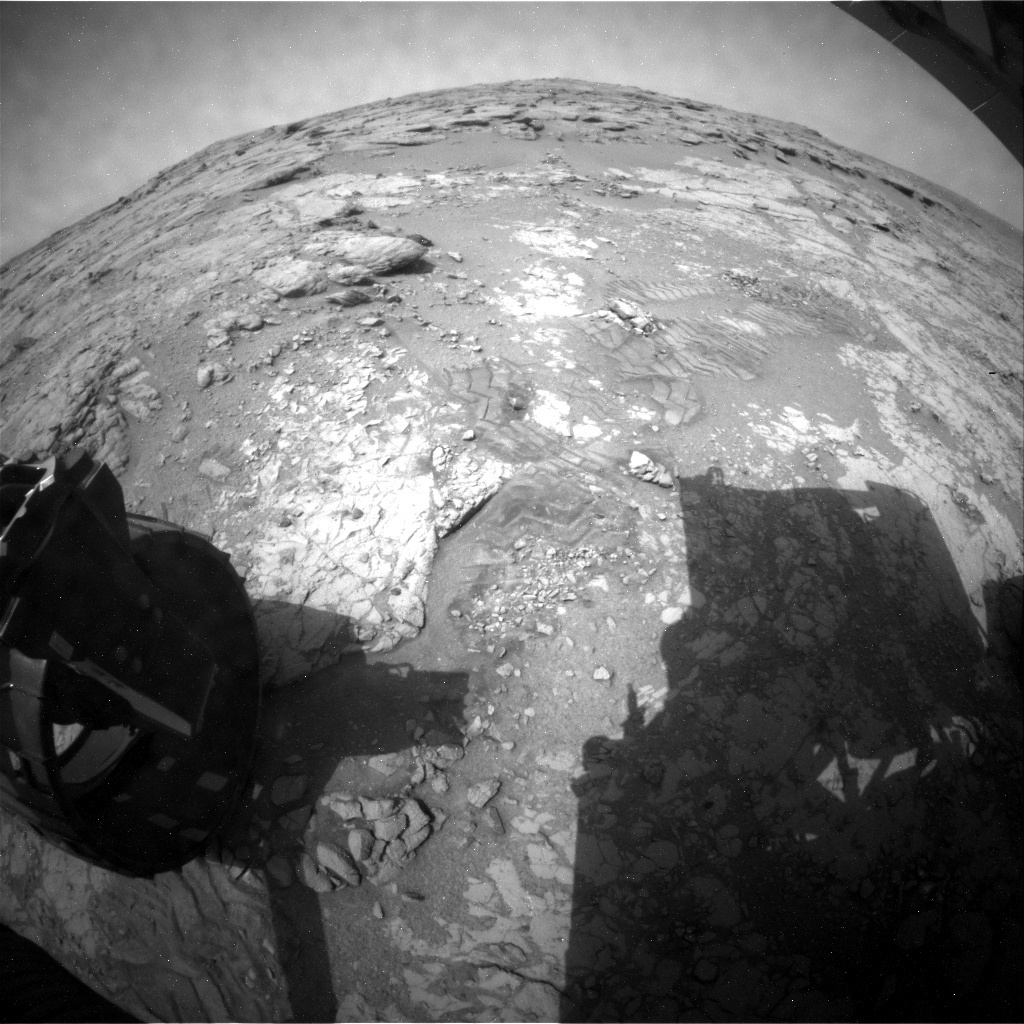 NASA's Mars rover Curiosity acquired this image using its Rear Hazard Avoidance Cameras (Rear Hazcams) on Sol 268