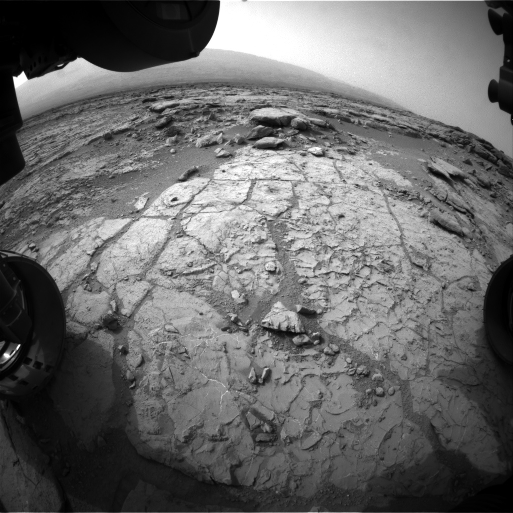 Nasa's Mars rover Curiosity acquired this image using its Front Hazard Avoidance Camera (Front Hazcam) on Sol 269, at drive 0, site number 6
