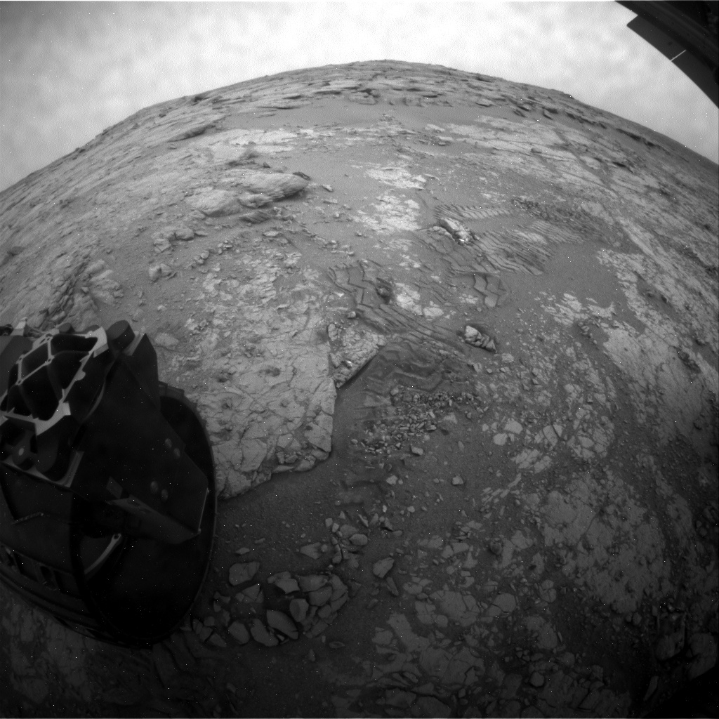 NASA's Mars rover Curiosity acquired this image using its Rear Hazard Avoidance Cameras (Rear Hazcams) on Sol 269