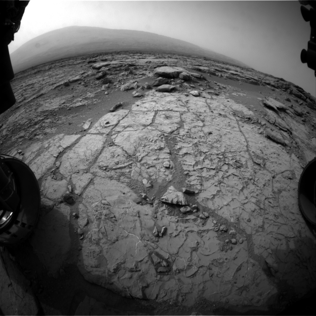 NASA's Mars rover Curiosity acquired this image using its Front Hazard Avoidance Cameras (Front Hazcams) on Sol 270