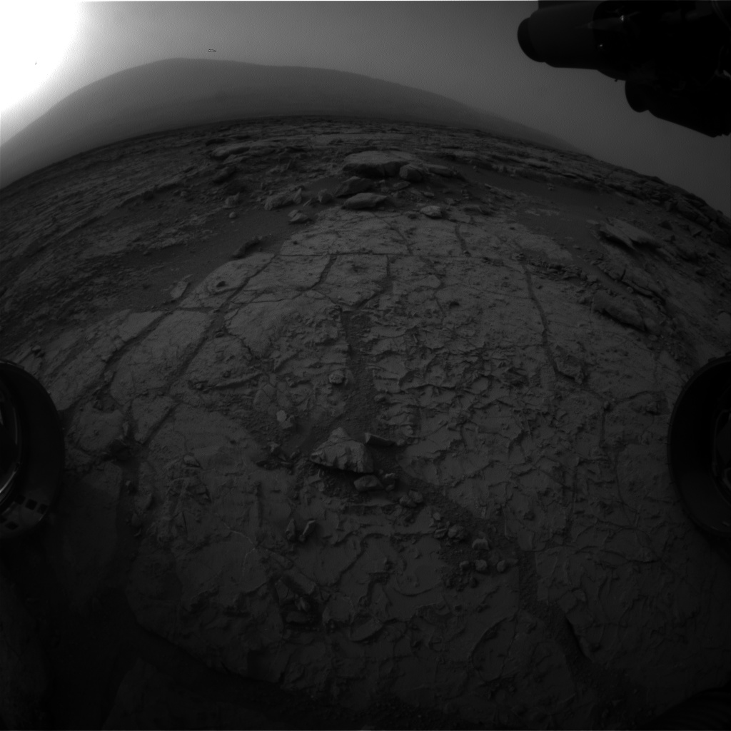 Nasa's Mars rover Curiosity acquired this image using its Front Hazard Avoidance Camera (Front Hazcam) on Sol 270, at drive 0, site number 6