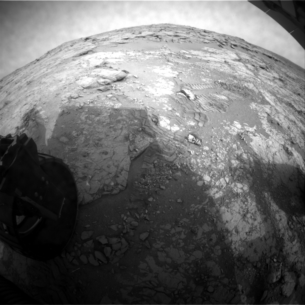 NASA's Mars rover Curiosity acquired this image using its Rear Hazard Avoidance Cameras (Rear Hazcams) on Sol 270