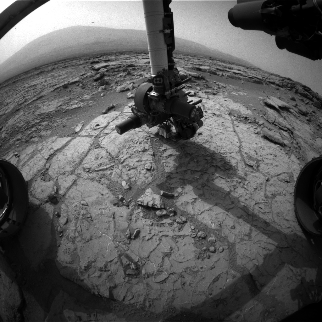 Nasa's Mars rover Curiosity acquired this image using its Front Hazard Avoidance Camera (Front Hazcam) on Sol 271, at drive 0, site number 6