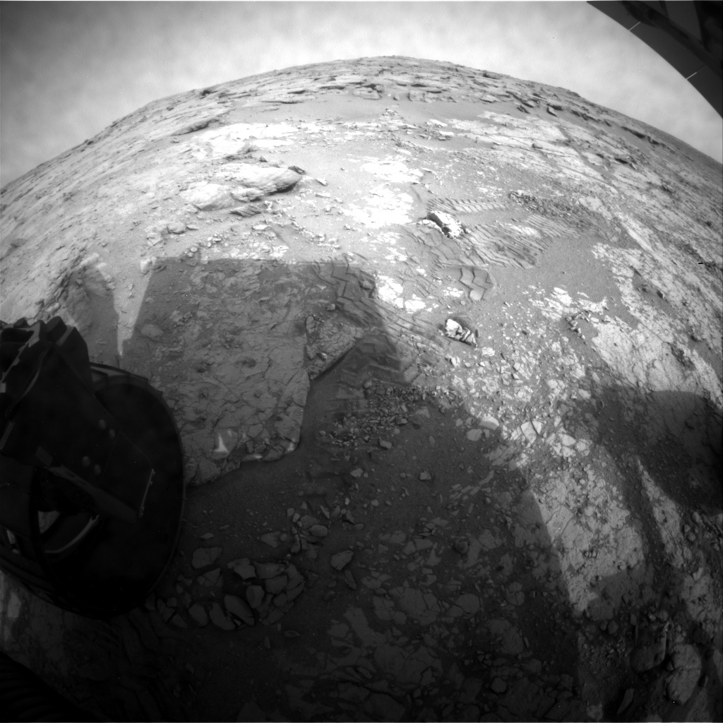 NASA's Mars rover Curiosity acquired this image using its Rear Hazard Avoidance Cameras (Rear Hazcams) on Sol 271