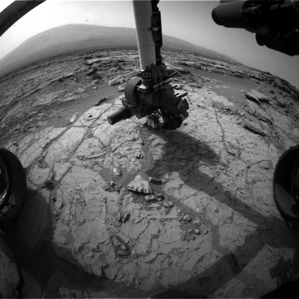 Nasa's Mars rover Curiosity acquired this image using its Front Hazard Avoidance Camera (Front Hazcam) on Sol 272, at drive 0, site number 6