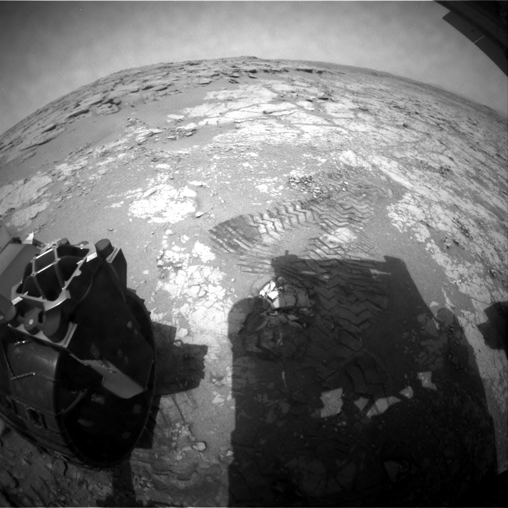 NASA's Mars rover Curiosity acquired this image using its Rear Hazard Avoidance Cameras (Rear Hazcams) on Sol 272