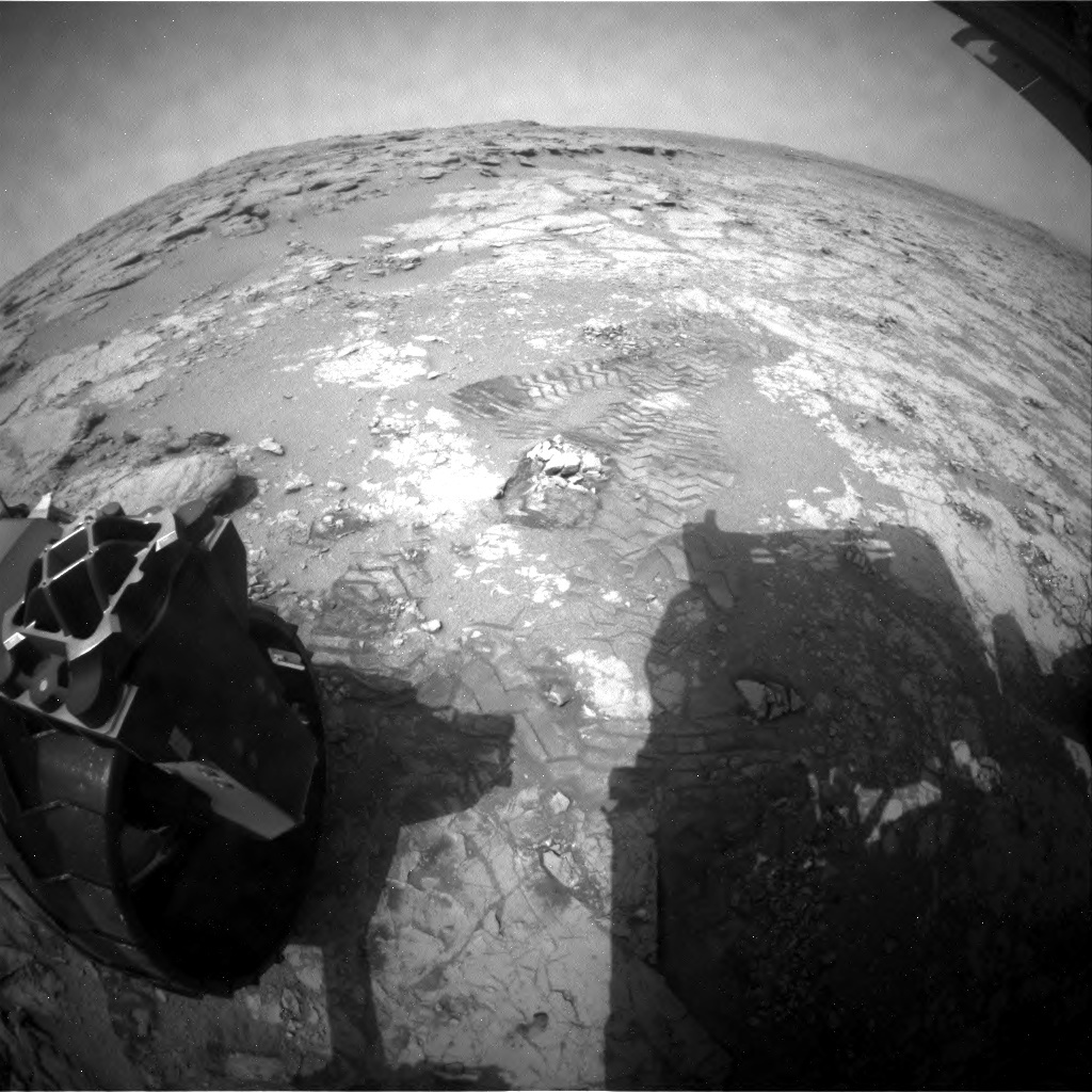 NASA's Mars rover Curiosity acquired this image using its Rear Hazard Avoidance Cameras (Rear Hazcams) on Sol 274