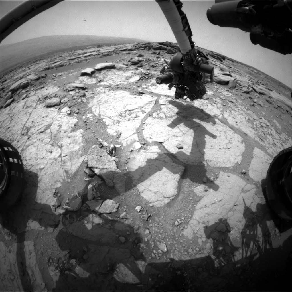 NASA's Mars rover Curiosity acquired this image using its Front Hazard Avoidance Cameras (Front Hazcams) on Sol 275