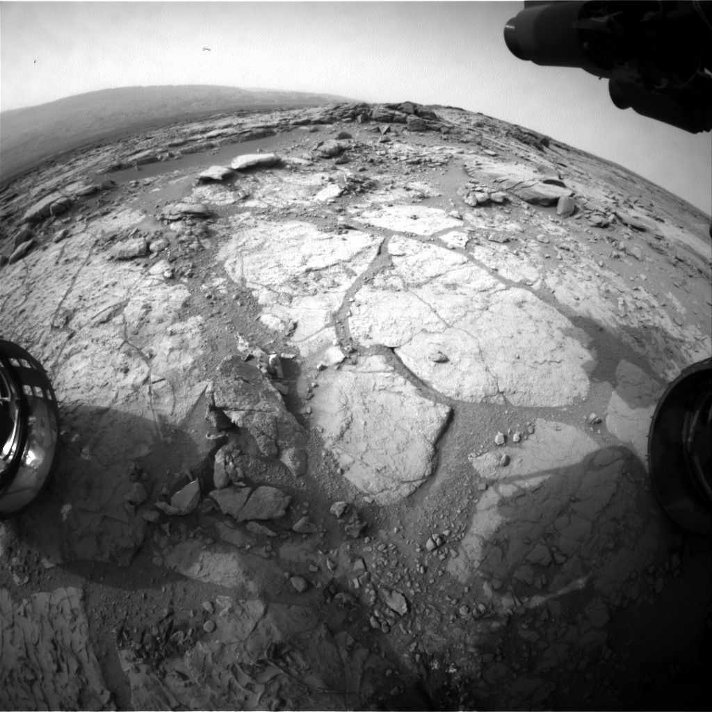 NASA's Mars rover Curiosity acquired this image using its Front Hazard Avoidance Cameras (Front Hazcams) on Sol 277