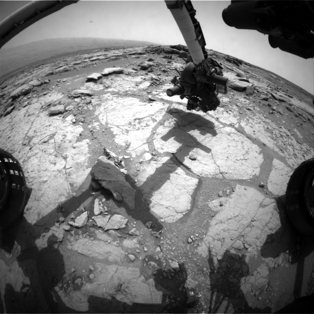 Nasa's Mars rover Curiosity acquired this image using its Front Hazard Avoidance Camera (Front Hazcam) on Sol 277, at drive 82, site number 6