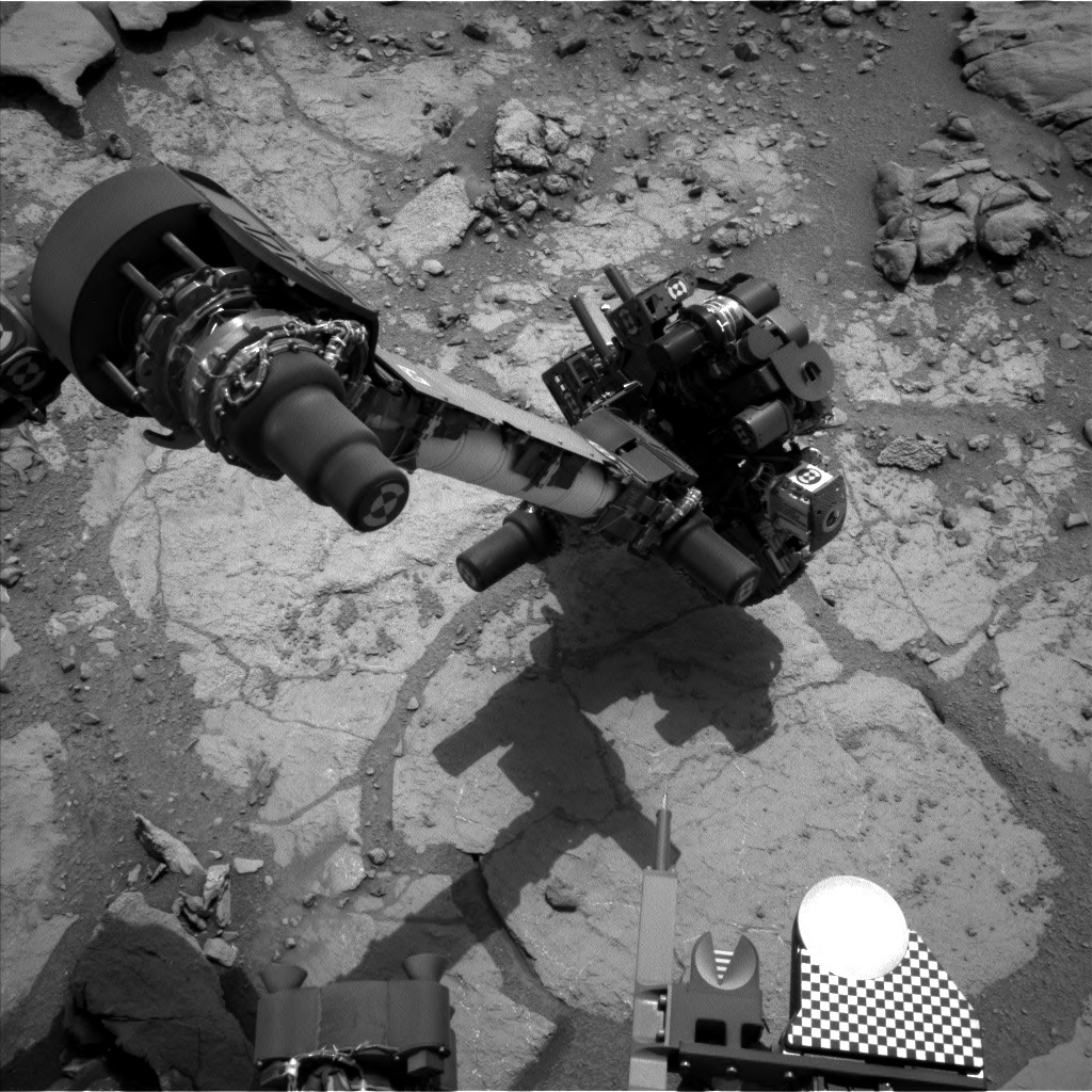 NASA's Mars rover Curiosity acquired this image using its Left Navigation Camera (Navcams) on Sol 277