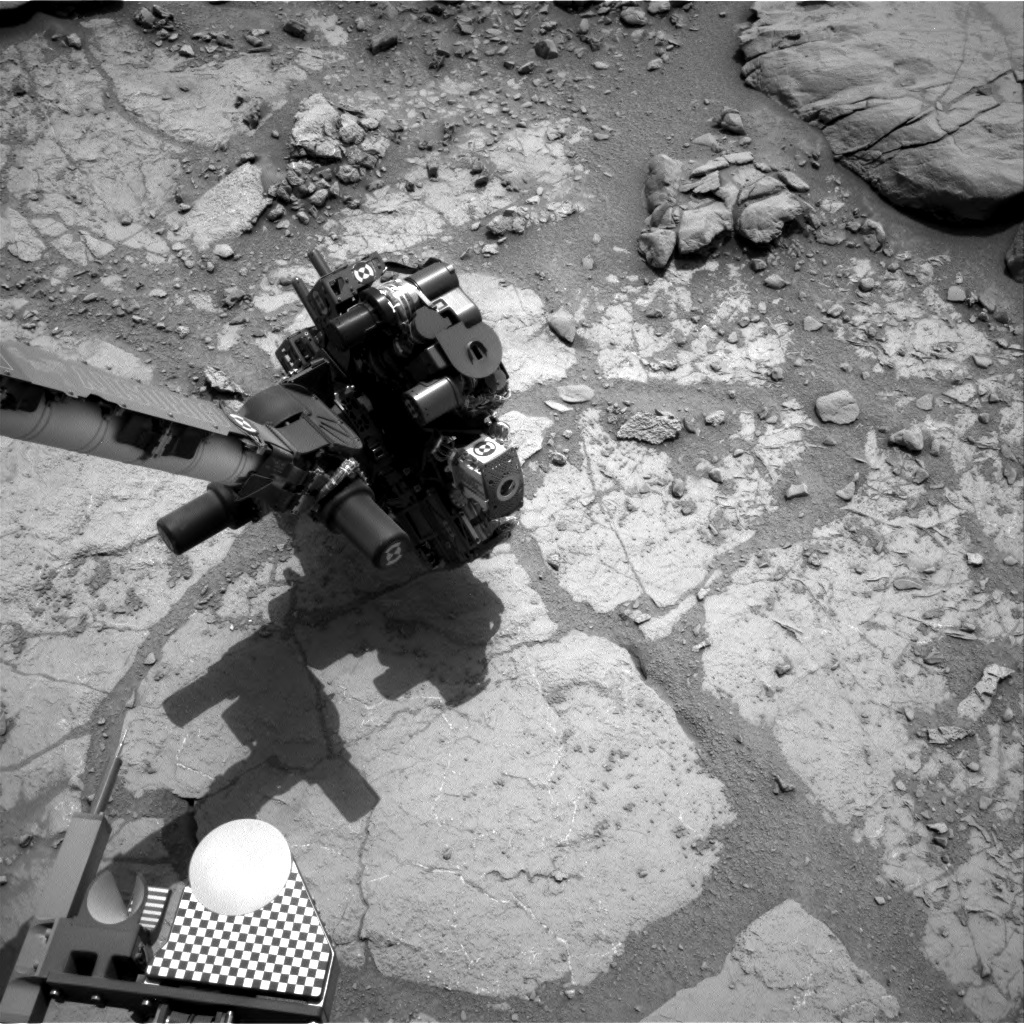 NASA's Mars rover Curiosity acquired this image using its Right Navigation Cameras (Navcams) on Sol 277