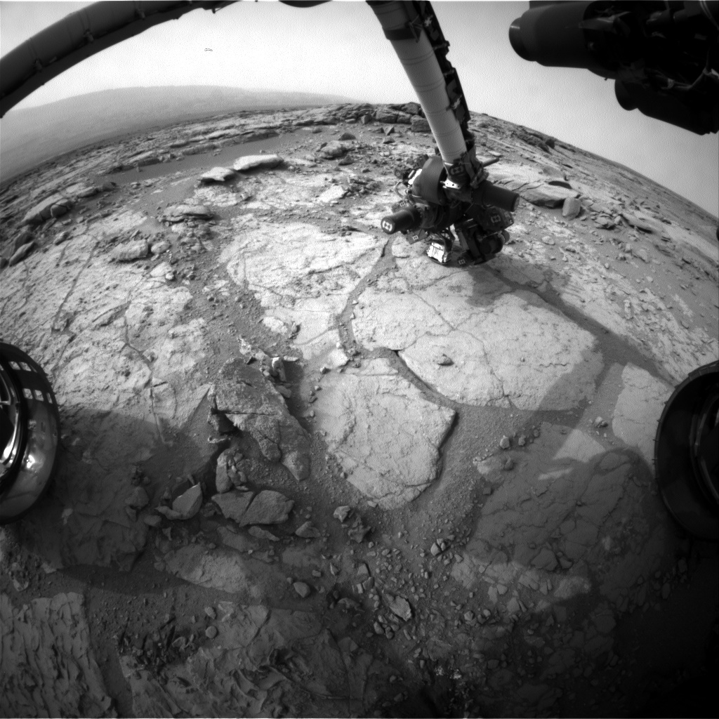 NASA's Mars rover Curiosity acquired this image using its Front Hazard Avoidance Cameras (Front Hazcams) on Sol 278