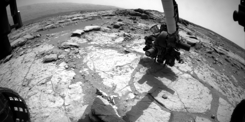 NASA's Mars rover Curiosity acquired this image using its Front Hazard Avoidance Cameras (Front Hazcams) on Sol 279