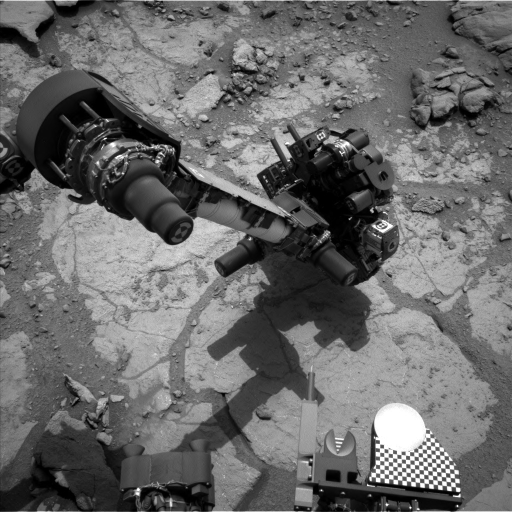 NASA's Mars rover Curiosity acquired this image using its Left Navigation Camera (Navcams) on Sol 279