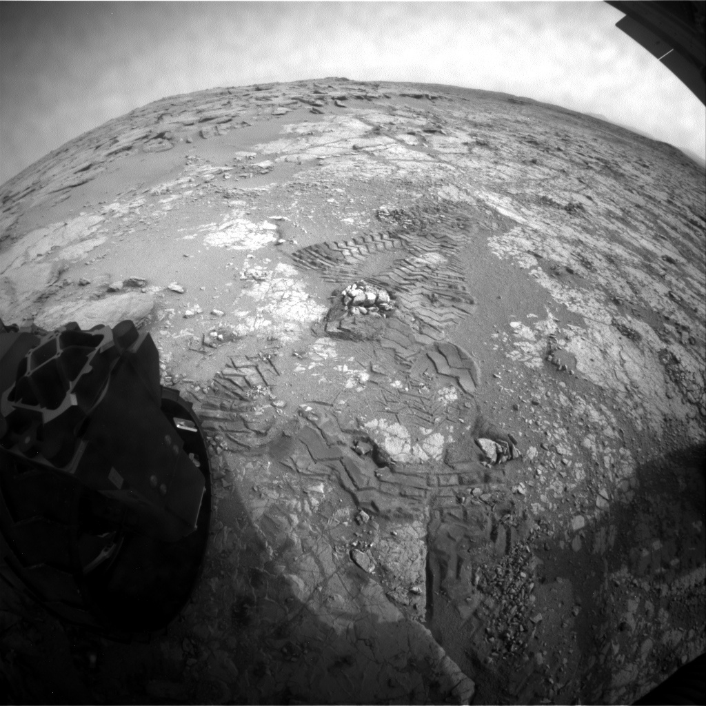 NASA's Mars rover Curiosity acquired this image using its Rear Hazard Avoidance Cameras (Rear Hazcams) on Sol 280
