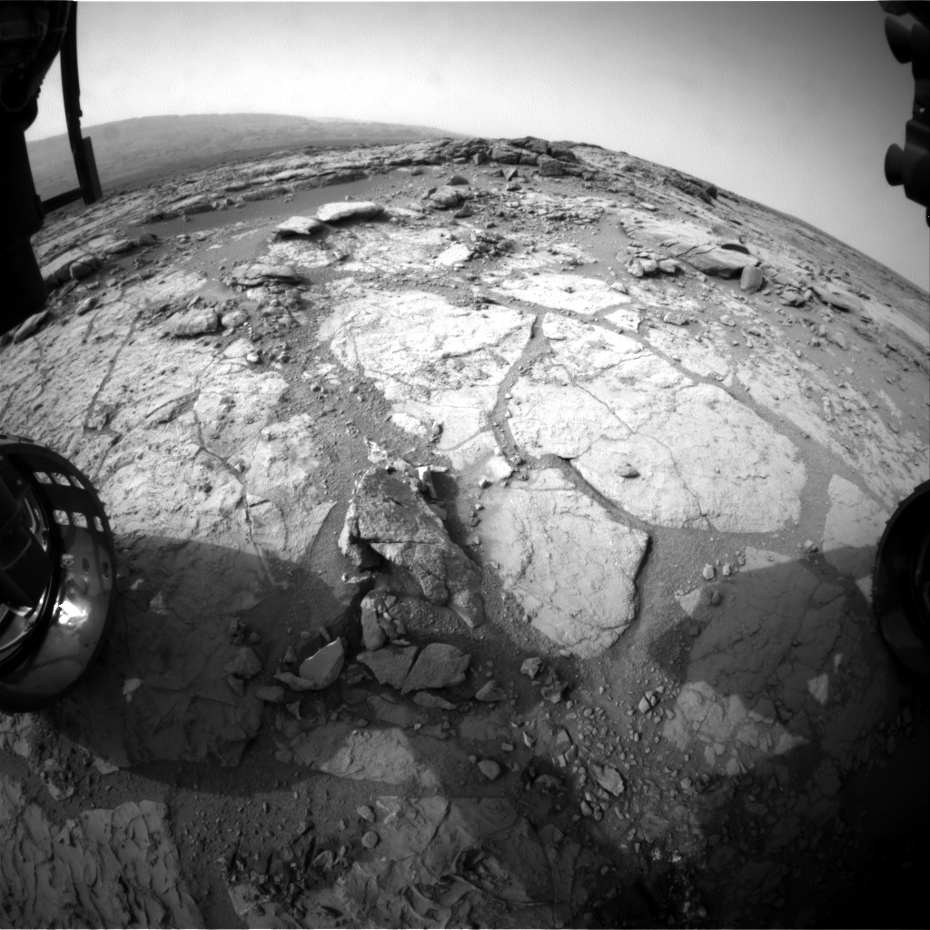 Nasa's Mars rover Curiosity acquired this image using its Front Hazard Avoidance Camera (Front Hazcam) on Sol 281, at drive 82, site number 6