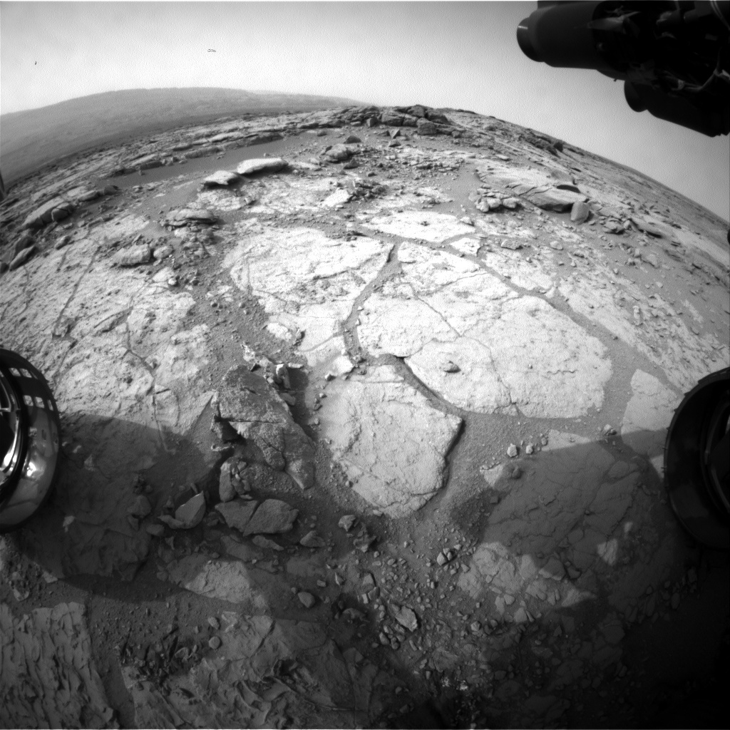 NASA's Mars rover Curiosity acquired this image using its Front Hazard Avoidance Cameras (Front Hazcams) on Sol 281