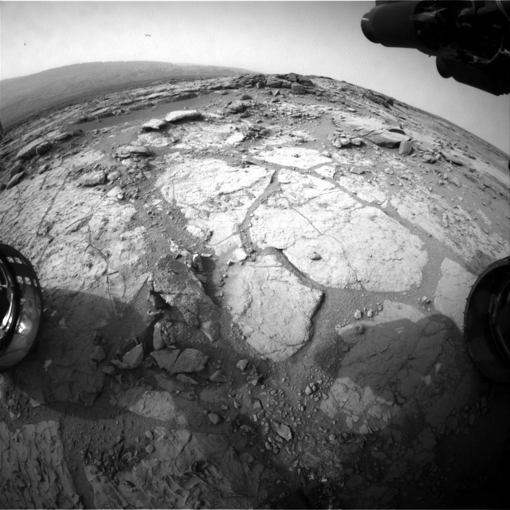 NASA's Mars rover Curiosity acquired this image using its Front Hazard Avoidance Cameras (Front Hazcams) on Sol 282