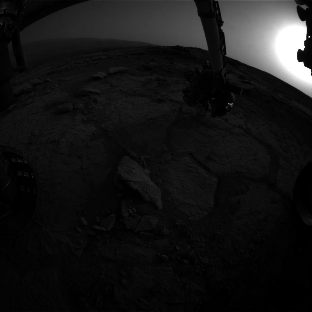 Nasa's Mars rover Curiosity acquired this image using its Front Hazard Avoidance Camera (Front Hazcam) on Sol 283, at drive 82, site number 6