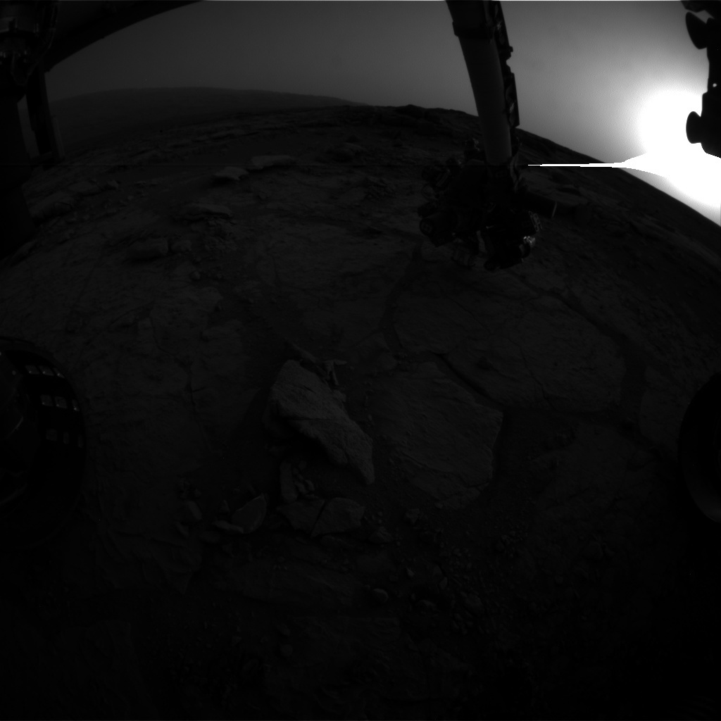 NASA's Mars rover Curiosity acquired this image using its Front Hazard Avoidance Cameras (Front Hazcams) on Sol 283