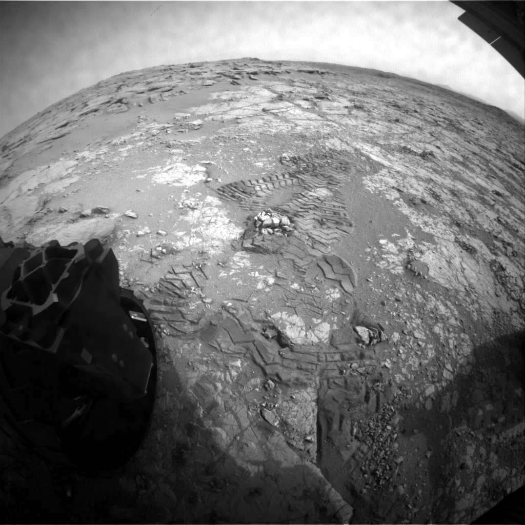 NASA's Mars rover Curiosity acquired this image using its Rear Hazard Avoidance Cameras (Rear Hazcams) on Sol 283