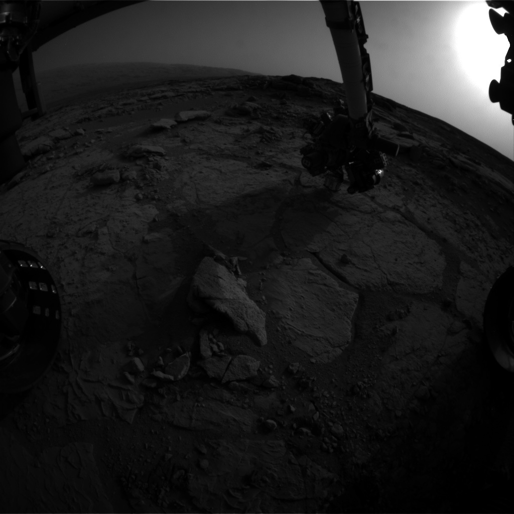 NASA's Mars rover Curiosity acquired this image using its Front Hazard Avoidance Cameras (Front Hazcams) on Sol 286