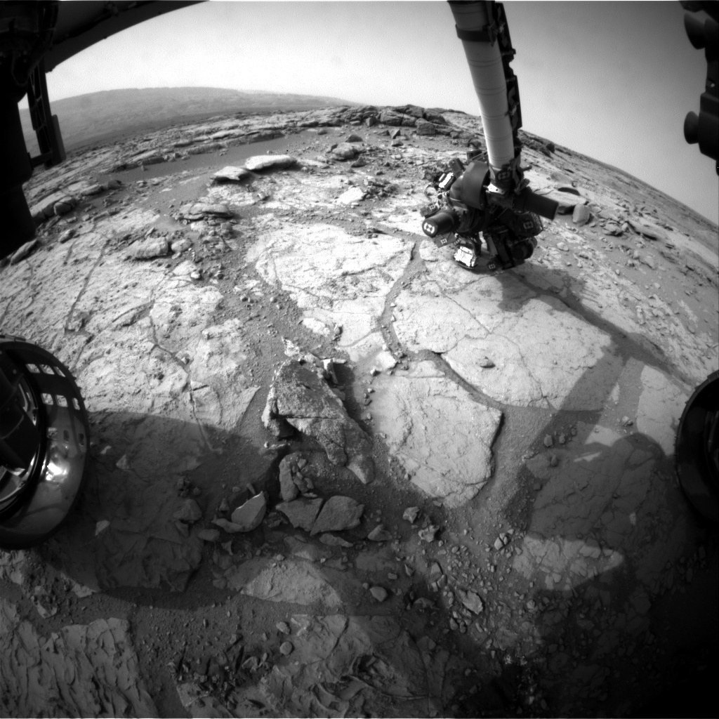 NASA's Mars rover Curiosity acquired this image using its Front Hazard Avoidance Cameras (Front Hazcams) on Sol 287