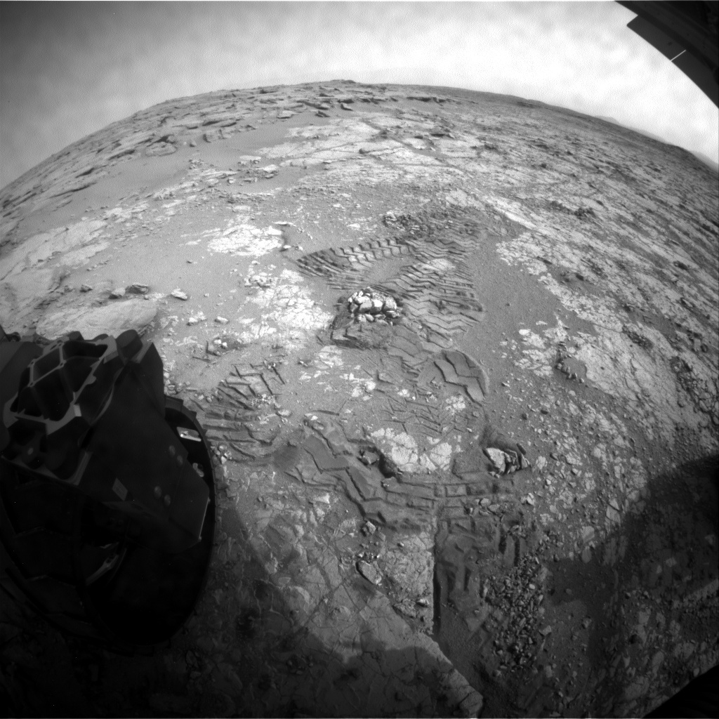 NASA's Mars rover Curiosity acquired this image using its Rear Hazard Avoidance Cameras (Rear Hazcams) on Sol 288