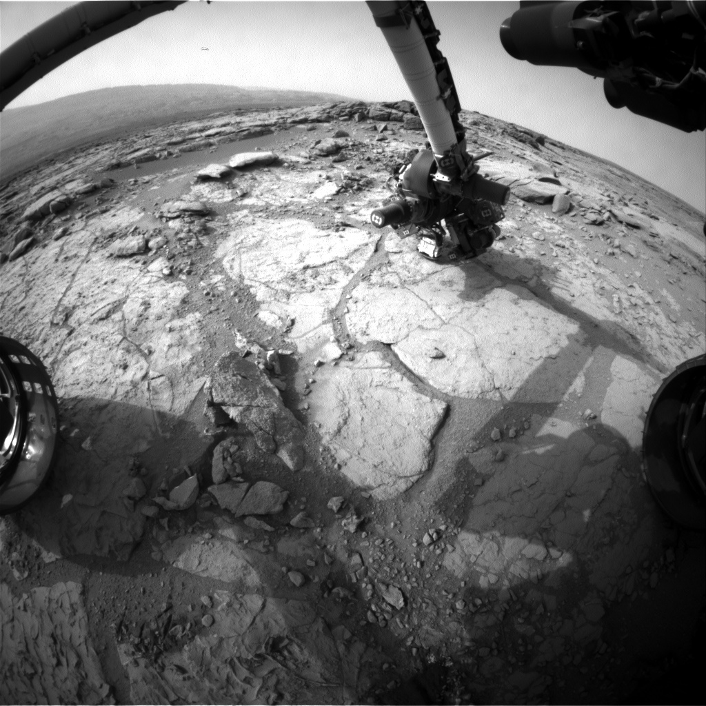 Nasa's Mars rover Curiosity acquired this image using its Front Hazard Avoidance Camera (Front Hazcam) on Sol 289, at drive 82, site number 6