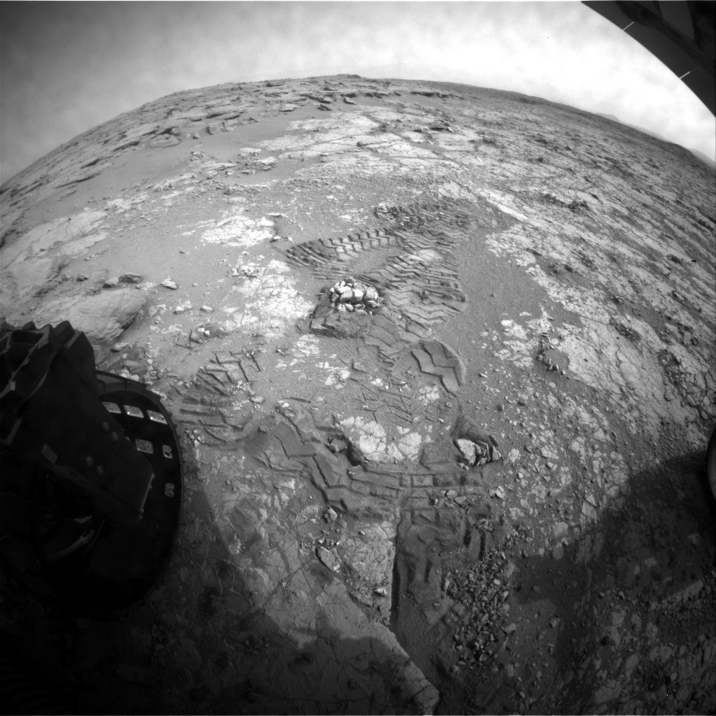 NASA's Mars rover Curiosity acquired this image using its Rear Hazard Avoidance Cameras (Rear Hazcams) on Sol 289