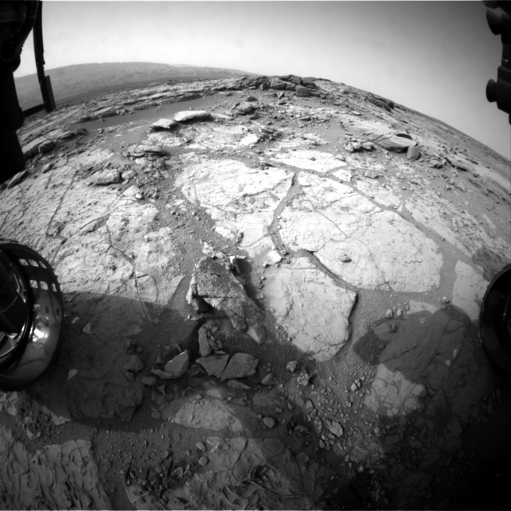 Nasa's Mars rover Curiosity acquired this image using its Front Hazard Avoidance Camera (Front Hazcam) on Sol 290, at drive 82, site number 6
