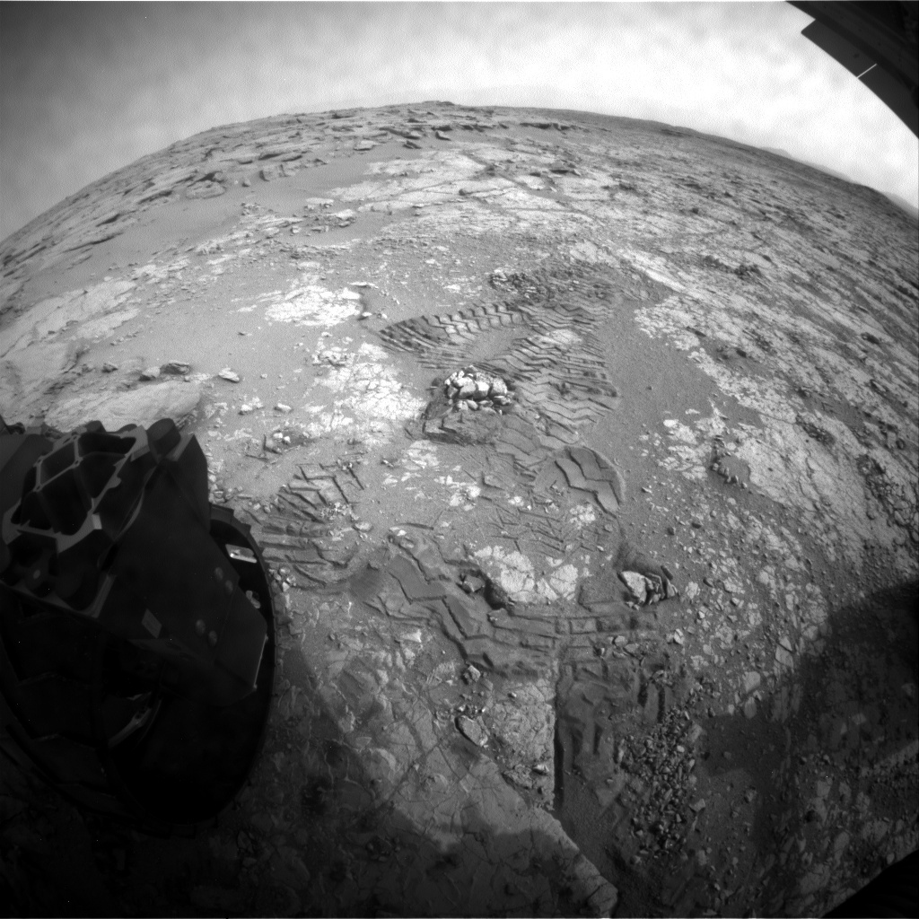 NASA's Mars rover Curiosity acquired this image using its Rear Hazard Avoidance Cameras (Rear Hazcams) on Sol 290