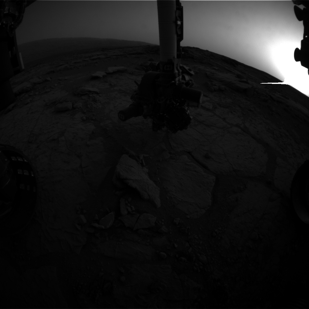 NASA's Mars rover Curiosity acquired this image using its Front Hazard Avoidance Cameras (Front Hazcams) on Sol 291